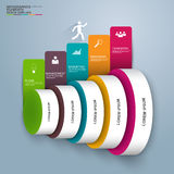 Infographics vector design template Royalty Free Stock Photos