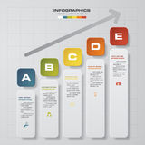 Infographics vector design template. 5 steps with progress arrow from lower to upper. EPS10 Royalty Free Stock Images