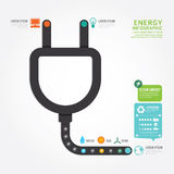 Infographics vector eco energy concept design diagram line style Royalty Free Stock Photo