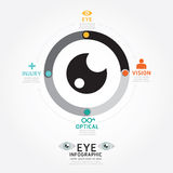 Infographics vector eye design diagram line style timeline Stock Photos