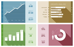 Infographics vector flat design. Financial Busines. Infographics vector design template. Trendy flat style. Graph, diagram, charts - use for financial and Stock Image