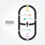 Infographics vector medical capsule design diagram line style. Stock Image