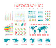 Infographics vector set illustration Royalty Free Stock Images