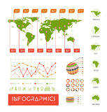 Infographics vector set illustration Stock Image