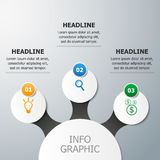 Infographics vector template. Visualization of three options/steps/ways to achieve a result Royalty Free Stock Photography
