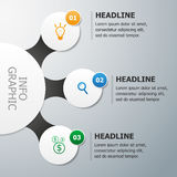 Infographics vector template. Visualization of three options/steps/ways to achieve a result Royalty Free Stock Photo