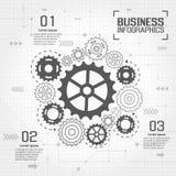 Infographics-Vektor-Geschäftsdesign Lizenzfreies Stockbild
