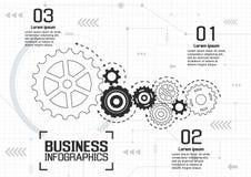 Infographics-Vektor-Geschäftsdesign Stockbilder