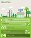 Infographics verde ilustração royalty free