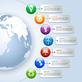 Infographics verde de la energía Imagenes de archivo