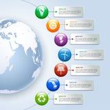 Infographics verde di energia Immagini Stock