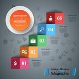 Infographics vers le haut de l'échelle au succès Escalier d'affaires Image libre de droits