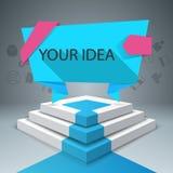 Infographics vers le haut de l'échelle au succès Escalier d'affaires Image stock