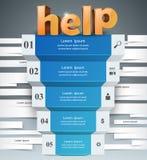 Infographics vers le haut de l'échelle au succès Escalier d'aide Photos libres de droits
