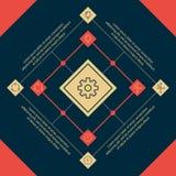 Infographics Vierkante elementen en pictogrammen Royalty-vrije Stock Afbeeldingen