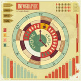 Infographics vintage elements - work time concept Royalty Free Stock Photo