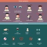 Infographics voor slag vector illustratie