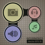 Infographics web design. Modern round template. Ve Royalty Free Stock Photography