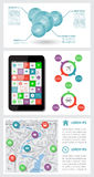 Infographics and web elements Royalty Free Stock Photos