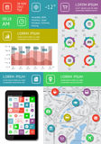 Infographics and web elements. Featuring flat design. EPS10 vector illustration Stock Images