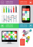 Infographics and web elements. Featuring flat design. EPS10 vector illustration Stock Photos