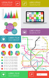 Infographics and web elements. Ui, infographics and web elements including flat design. EPS10 vector illustration Royalty Free Stock Images
