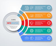 Infographics web marketing icons for layout, diagram, annual  Royalty Free Stock Photos