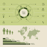 Infographics wektorowi elementy Obraz Stock