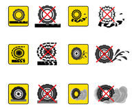 Infographics wheels. Infographics associated with transport and road surface. Vector icons Stock Photo