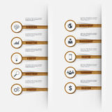 Infographics wooden stick number options. Can be used for workflow layout, data visualization, business concept with 10 stick options, parts, steps or Royalty Free Stock Images