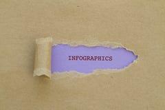 INFOGRAPHICS-Wort Lizenzfreie Stockfotos