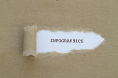 INFOGRAPHICS-Wort Stockbild