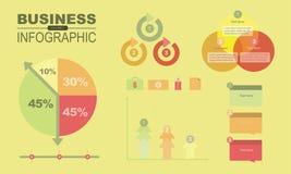 Infographics y elemento volume1 del negocio stock de ilustración