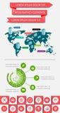 Infographics y elementos de la tela Fotos de archivo