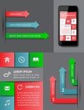 Infographics y elementos del Web Foto de archivo libre de regalías