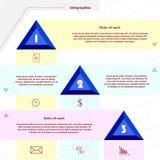 Infographics y negocio Fotografía de archivo