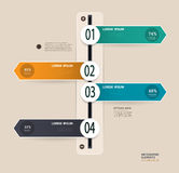 Infographics-Zeitachse Lizenzfreie Abbildung