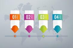Infographics-Zeitachse Stockbild