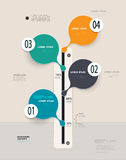 Infographics-Zeitachse Kann für Webdesign- und Arbeitsflussplan verwendet werden Stockfotografie