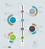 Infographics-Zeitachse Kann für Webdesign- und Arbeitsflussplan verwendet werden Lizenzfreies Stockbild