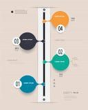 Infographics-Zeitachse Kann für Webdesign- und Arbeitsflussplan verwendet werden Lizenzfreie Abbildung