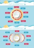infographicsdesignvektor och marknadsföring Stock Illustrationer
