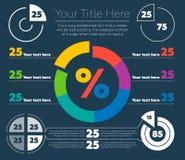 Infographicselementen - cirkeldiagram Royalty-vrije Stock Afbeelding