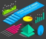 Infographicselementen - diagrammen Stock Foto's