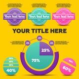 Infographicselementen 3 etiketten Royalty-vrije Stock Fotografie