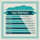 Infographicselementen - grafieken, lijngrafiek Stock Afbeelding