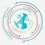 infographicselementen in moderne vlakke bedrijfsstijl Royalty-vrije Stock Foto's