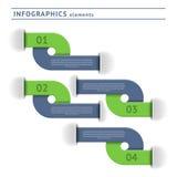 Infographicselementen. Ontwerpmalplaatje Stock Foto
