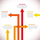 Infographicsmalplaatje met pijlen. stock illustratie