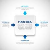 Infographicsmalplaatje met pijlen. vector illustratie